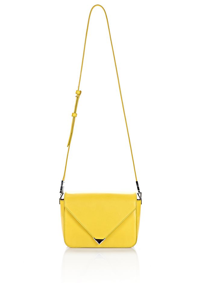 ALEXANDER WANG SMALL PRISMA ENVELOPE SLING IN SMOOTH LIMONITE WITH RHODIUM Shoulder bag Adult 12_n_f