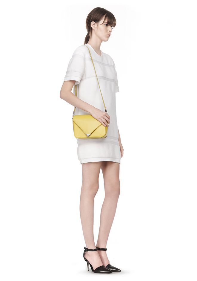 ALEXANDER WANG SMALL PRISMA ENVELOPE SLING IN SMOOTH LIMONITE WITH RHODIUM Shoulder bag Adult 12_n_r