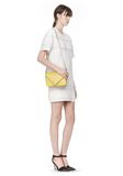 ALEXANDER WANG SMALL PRISMA ENVELOPE SLING IN SMOOTH LIMONITE WITH RHODIUM Shoulder bag Adult 8_n_r