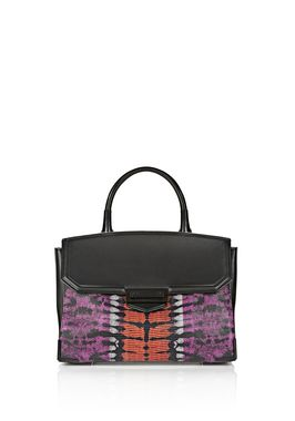 LARGE PRISMA SKELETAL MARION SLING IN TIE DYE WITH MATTE BLACK