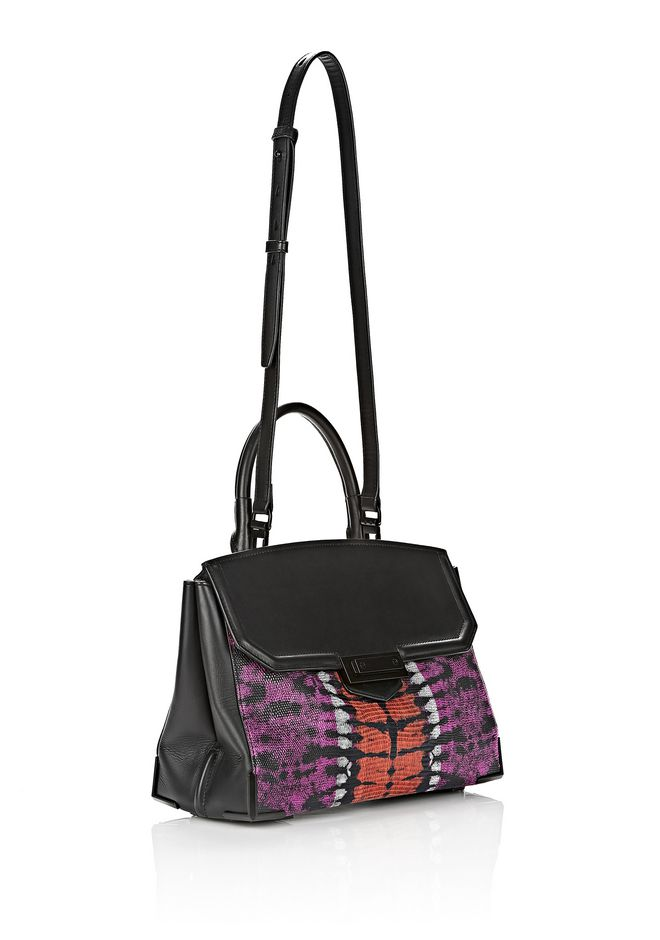 ALEXANDER WANG LARGE PRISMA SKELETAL MARION SLING IN TIE DYE WITH MATTE BLACK Shoulder bag Adult 12_n_e