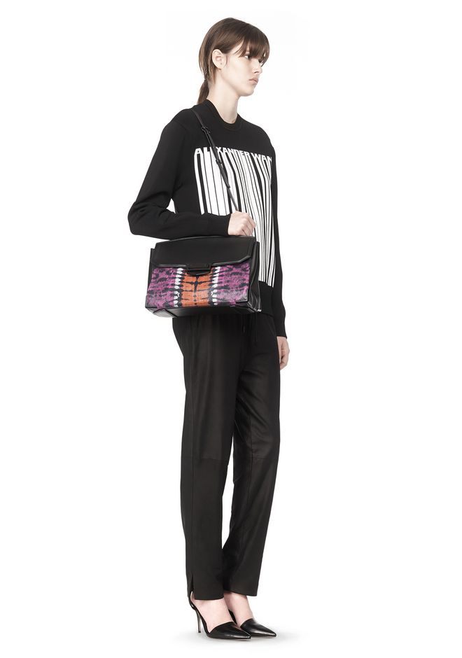 ALEXANDER WANG LARGE PRISMA SKELETAL MARION SLING IN TIE DYE WITH MATTE BLACK Shoulder bag Adult 12_n_r