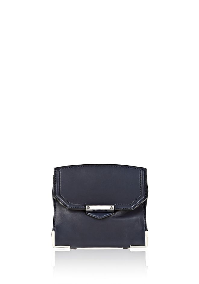 ALEXANDER WANG PRISMA SKELETAL MARION SLING IN SOFT NEPTUNE WITH RHODIUM Shoulder bag Adult 12_n_e