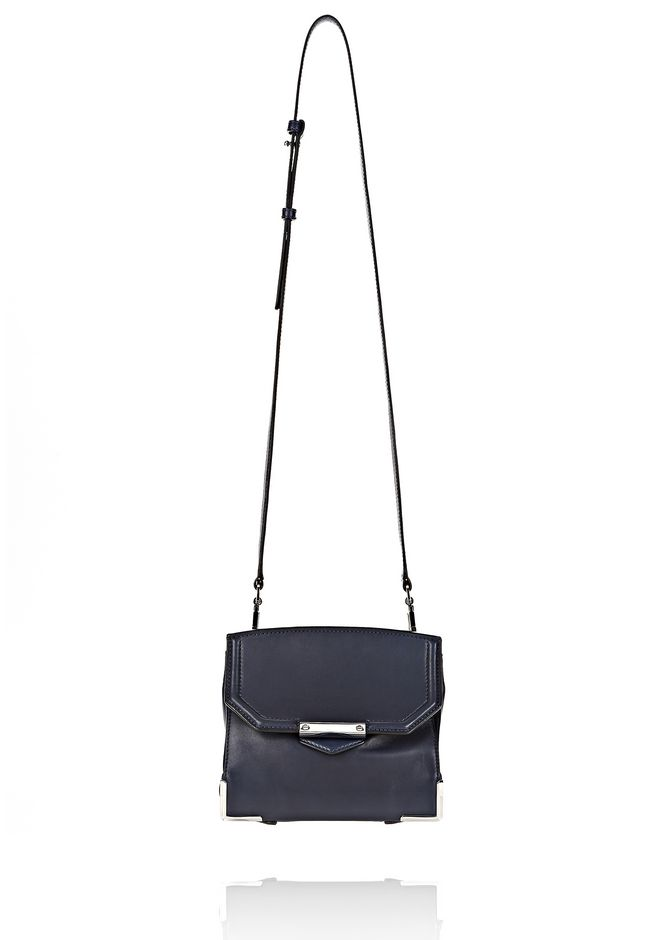 ALEXANDER WANG PRISMA SKELETAL MARION SLING IN SOFT NEPTUNE WITH RHODIUM Shoulder bag Adult 12_n_f