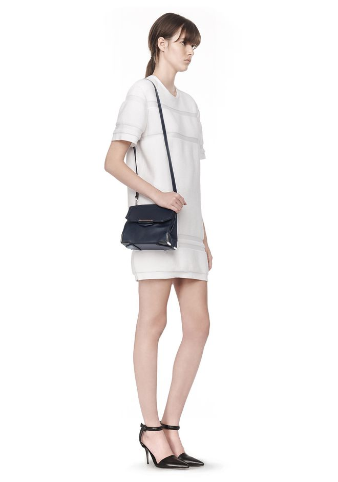 ALEXANDER WANG PRISMA SKELETAL MARION SLING IN SOFT NEPTUNE WITH RHODIUM Shoulder bag Adult 12_n_r