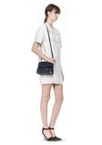 ALEXANDER WANG PRISMA SKELETAL MARION SLING IN SOFT NEPTUNE WITH RHODIUM Shoulder bag Adult 8_n_r