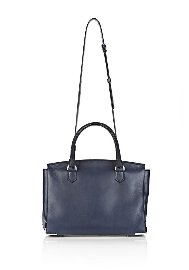 ALEXANDER WANG LARGE PRISMA SKELETAL MARION IN NEPTUNE WITH RHODIUM Shoulder bag Adult 12_n_d