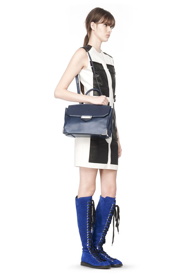ALEXANDER WANG LARGE PRISMA SKELETAL MARION IN NEPTUNE WITH RHODIUM Shoulder bag Adult 12_n_r