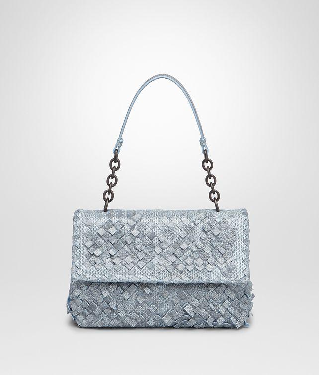 3c58b5b8e3 BOTTEGA VENETA SMALL OLIMPIA BAG IN CIEL INTRECCIO AYERS Shoulder Bag       pickupInStoreShipping info