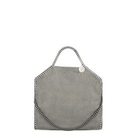 STELLA McCARTNEY Tote D Black Falabella Shaggy Deer Fold Over Tote f