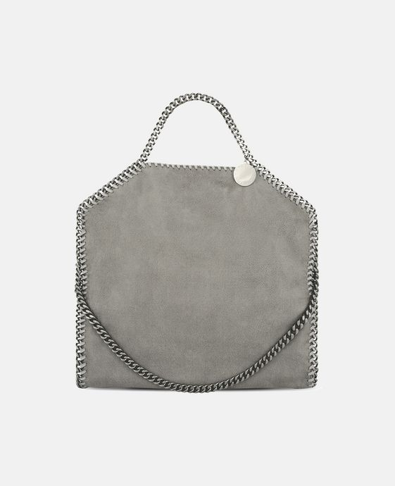 STELLA McCARTNEY Light Grey Falabella Shaggy Deer Fold Over Tote Tote D c