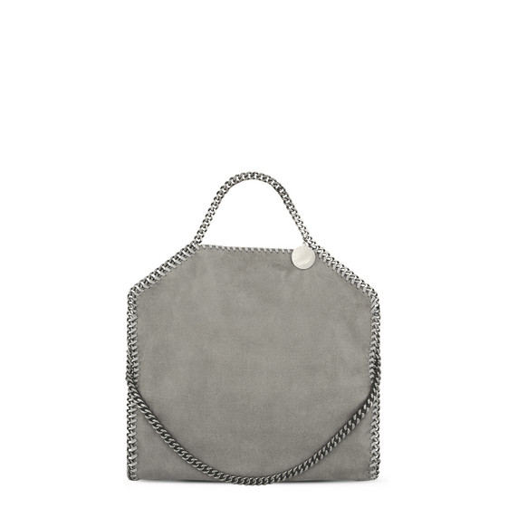 Light Grey Falabella Shaggy Deer Fold Over Tote