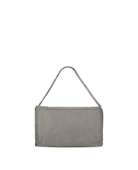 STELLA McCARTNEY Light Grey Falabella Shaggy Deer Fold Over Tote Tote D i