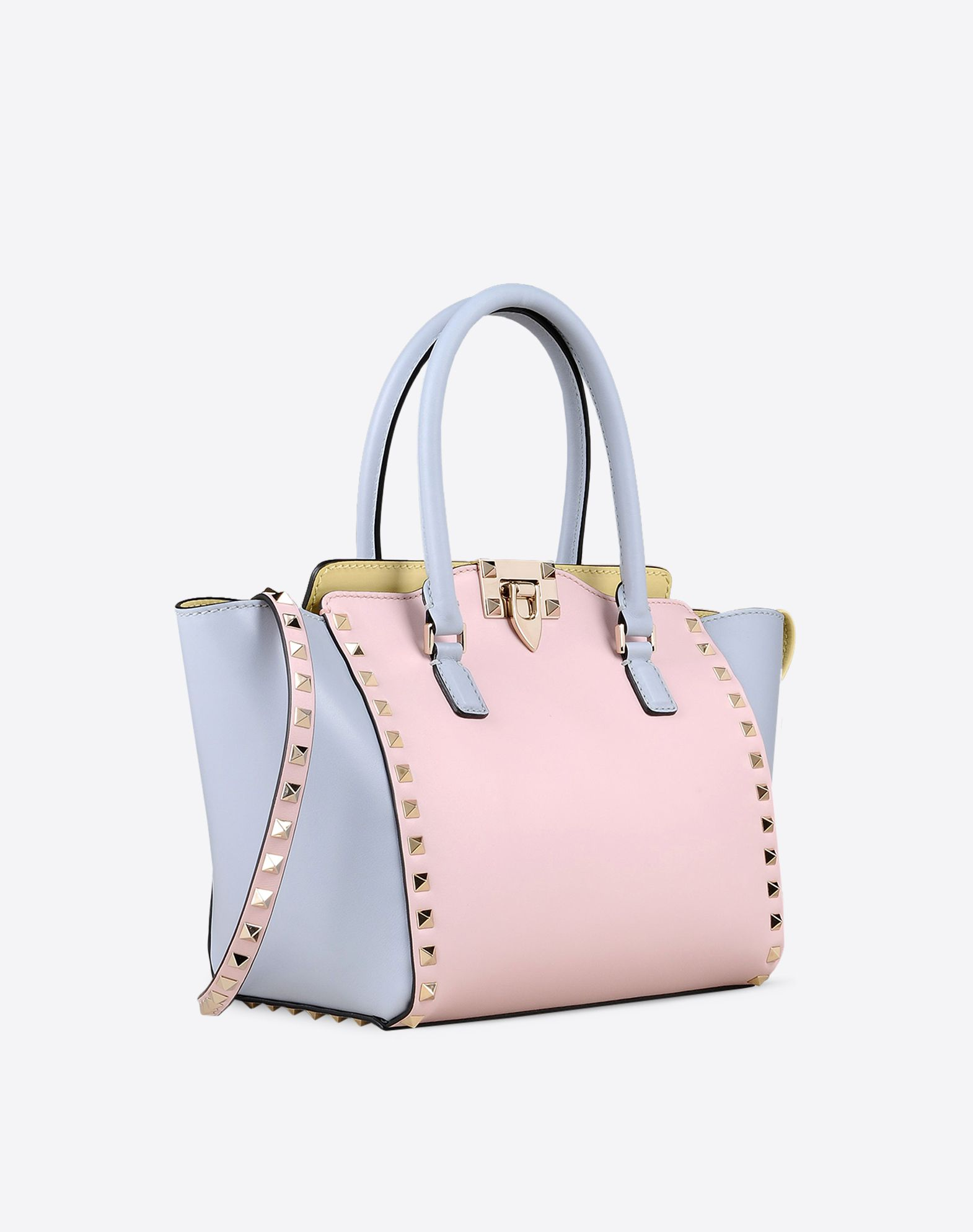 VALENTINO Logo detail Studs Multicolor Pattern Zip closure Internal compartments  45260793nf