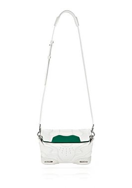 SMALL SNEAKER SLING IN OPTIC WHITE AND ASTROTURF WITH RHODIUM