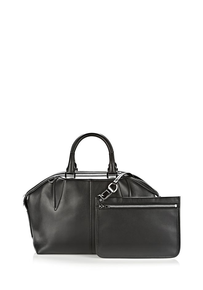 ALEXANDER WANG EMILE DOCTOR SATCHEL IN BLACK WITH RHODIUM TOTE/DEL Adult 12_n_e