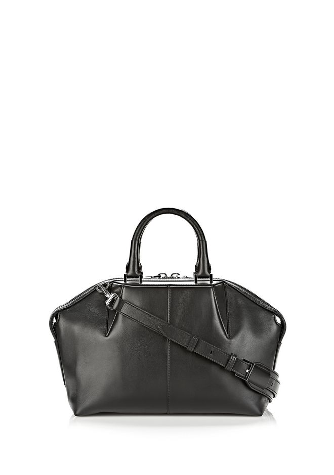 EMILE DOCTOR SATCHEL IN BLACK WITH RHODIUM | TOTE/DEL | Alexander ...
