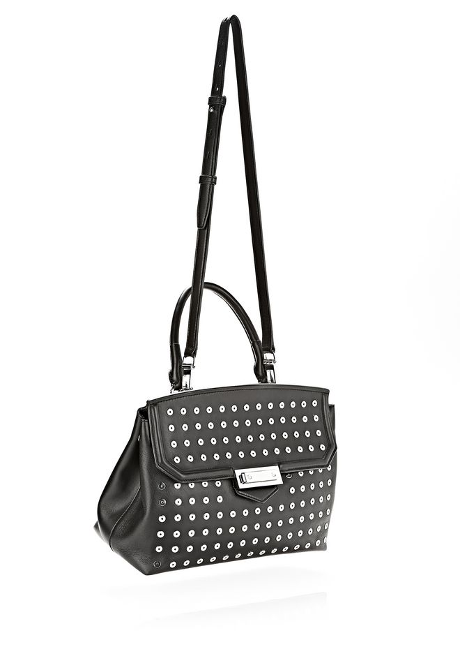 ALEXANDER WANG LARGE MARION SLING IN BLACK WITH EYELETS AND RHODIUM  Shoulder bag Adult 12_n_d