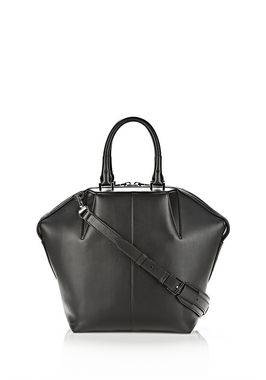 SMALL EMILE TOTE IN BLACK WITH RHODIUM