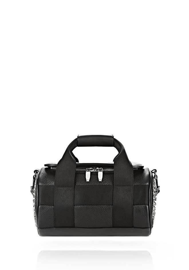 ALEXANDER WANG RUNWAY STUDDED SMALL DUFFEL BAG IN BLACK WITH RHODIUM Shoulder bag Adult 12_n_f