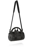 ALEXANDER WANG RUNWAY STUDDED SMALL DUFFEL BAG IN BLACK WITH RHODIUM Shoulder bag Adult 8_n_e