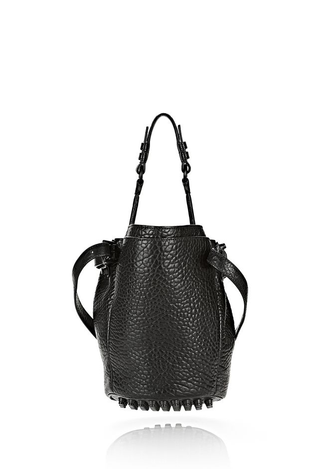 ALEXANDER WANG SMALL DIEGO IN PEBBLED BLACK WITH MATTE BLACK Shoulder bag Adult 12_n_d
