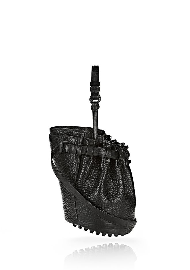 ALEXANDER WANG SMALL DIEGO IN PEBBLED BLACK WITH MATTE BLACK Shoulder bag Adult 12_n_e