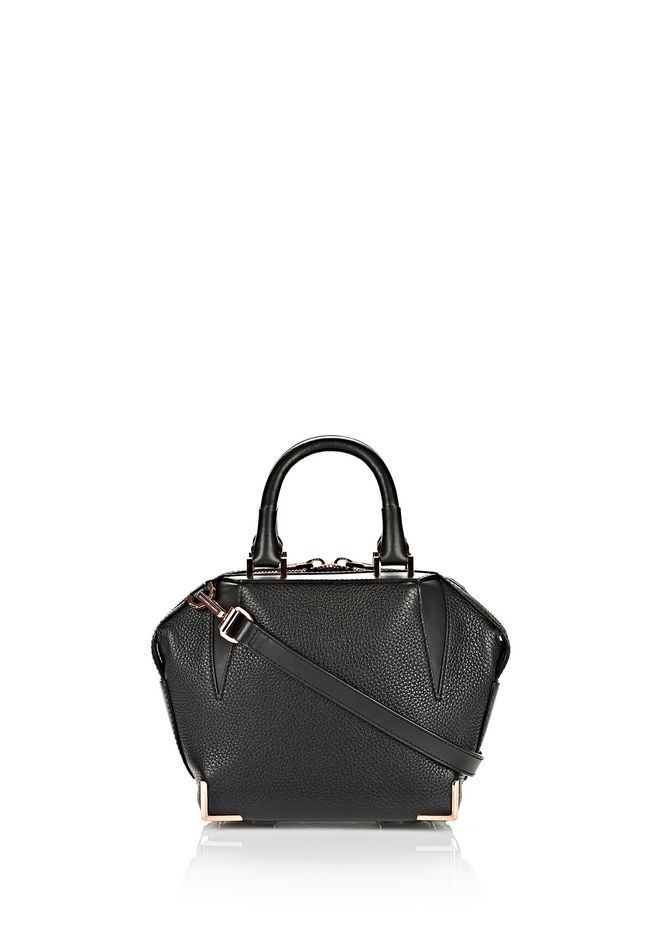 ALEXANDER WANG mini-bags MINI EMILE IN PEBBLED BLACK WITH ROSE GOLD