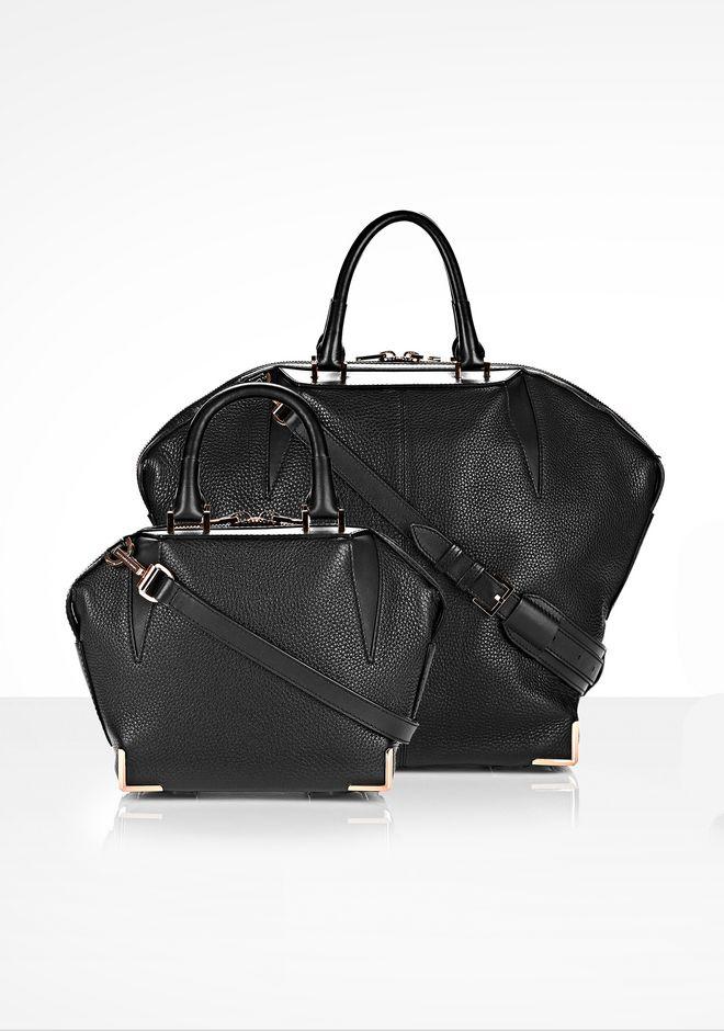 ALEXANDER WANG MINI EMILE IN PEBBLED BLACK WITH ROSE GOLD Shoulder bag Adult 12_n_a