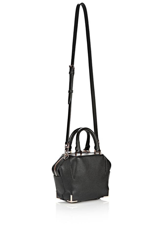 ALEXANDER WANG MINI EMILE IN PEBBLED BLACK WITH ROSE GOLD Shoulder bag Adult 12_n_e