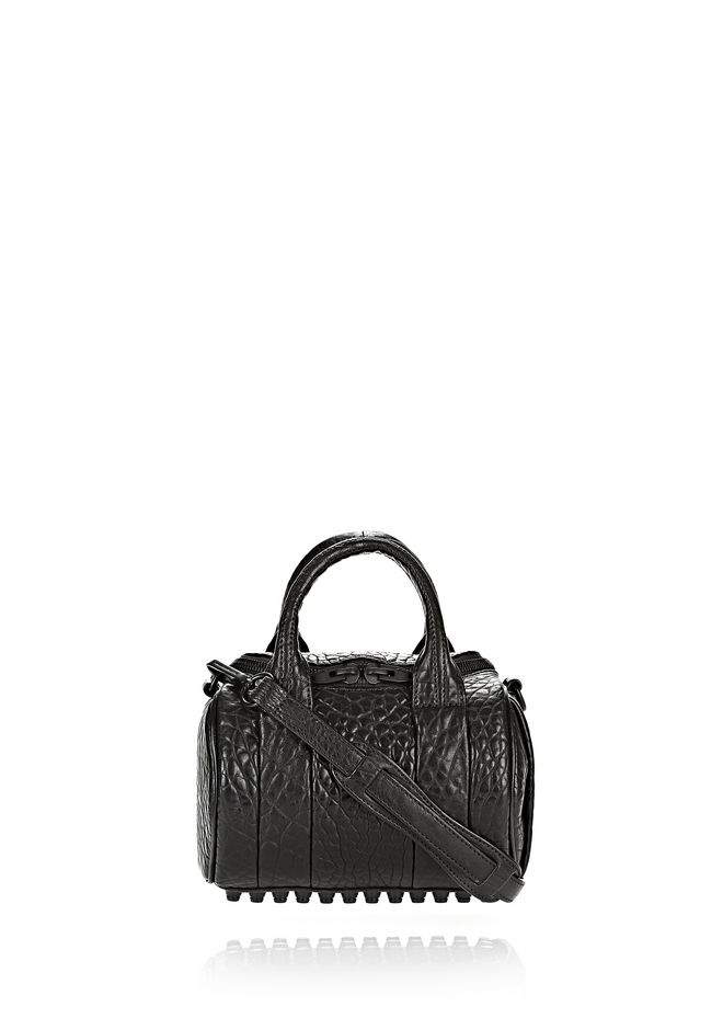 ALEXANDER WANG Shoulder bags MINI ROCKIE IN PEBBLED BLACK WITH MATTE BLACK