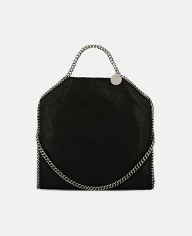 Black Falabella Shaggy Deer Fold Over Tote