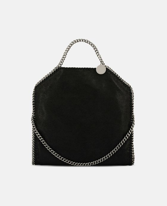 STELLA McCARTNEY Black Falabella Shaggy Deer Fold Over Tote Tote D c