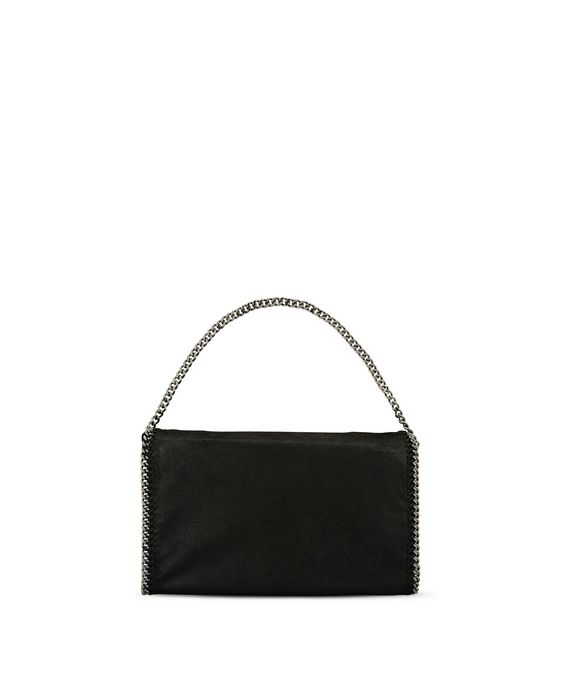 STELLA McCARTNEY Black Falabella Shaggy Deer Fold Over Tote Tote D i
