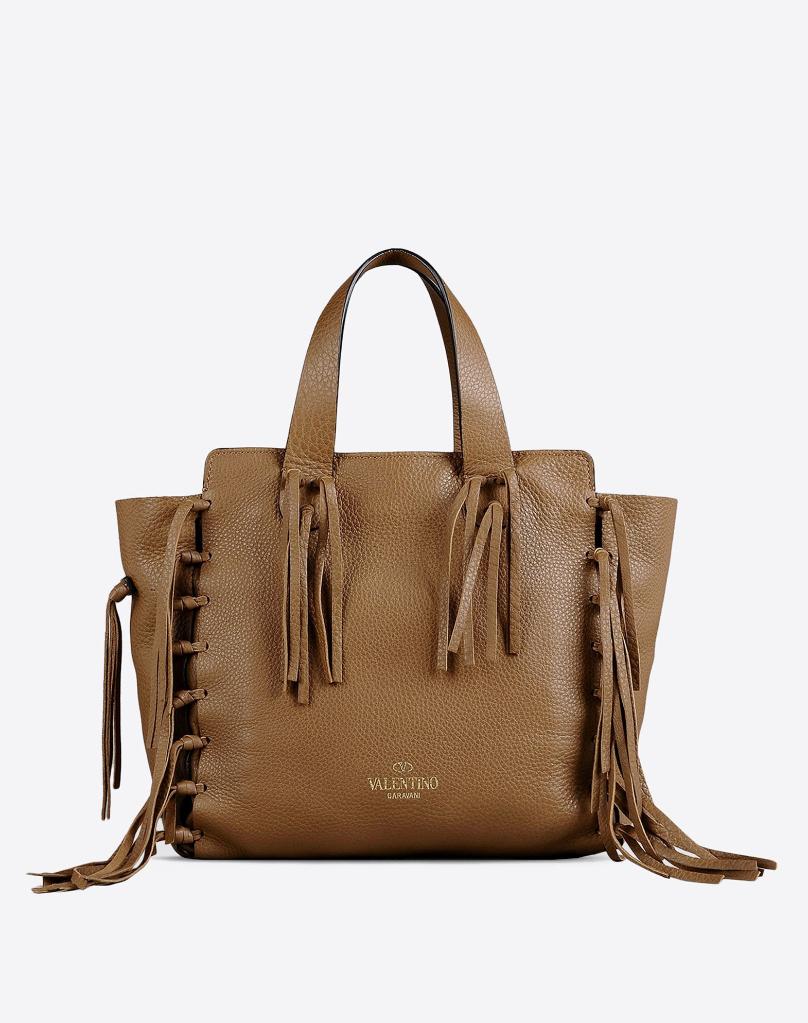 VALENTINO Textured leather Double handle Zip closure Internal zip pocket Removable shoulder strap  45263458kj