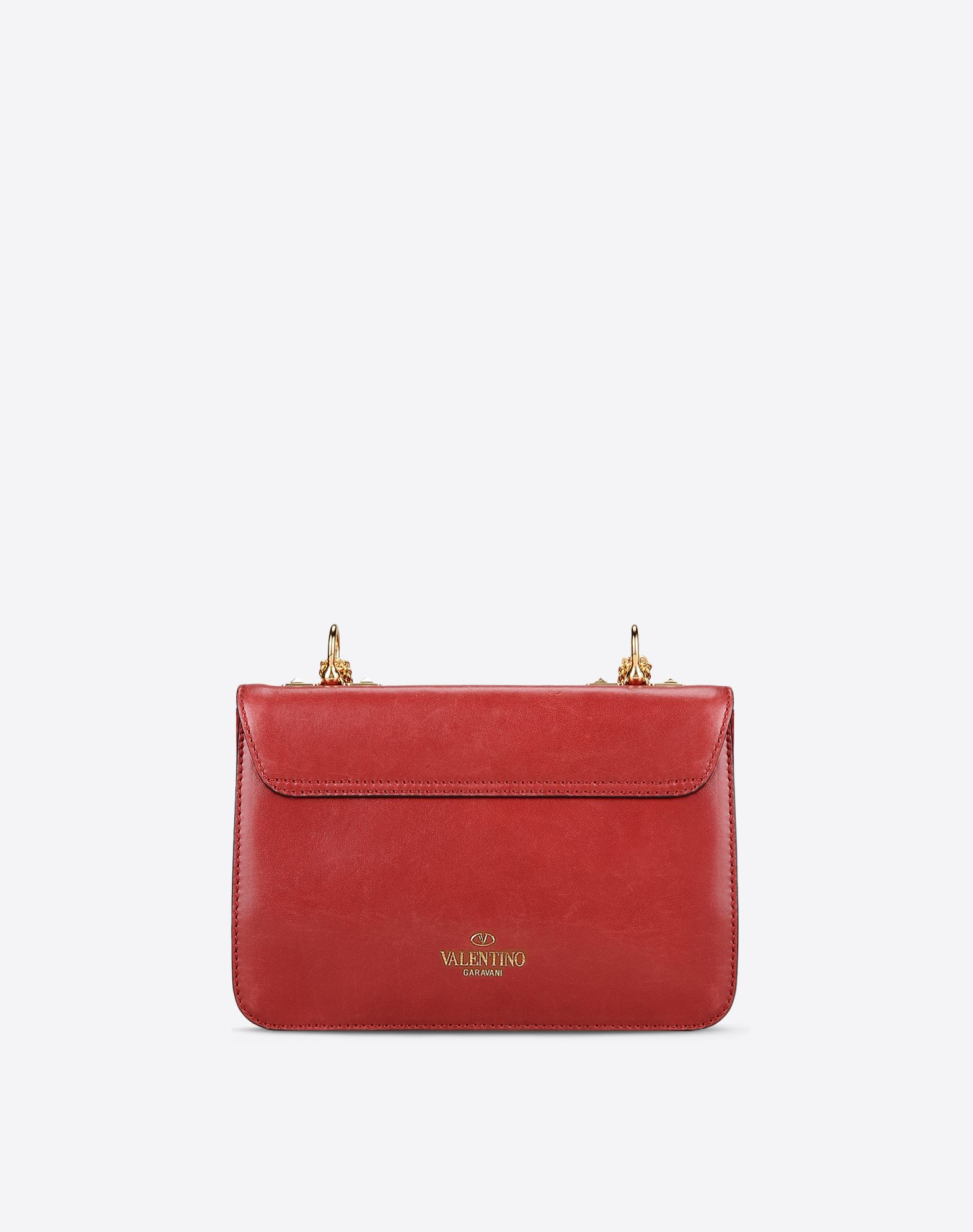 VALENTINO Logo detail Solid color Framed closure Internal compartments Metallic straps  45263905tt