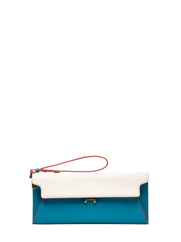 Marni ORIGAMI TRUNK drag-on clutch in calfskin Woman - 1