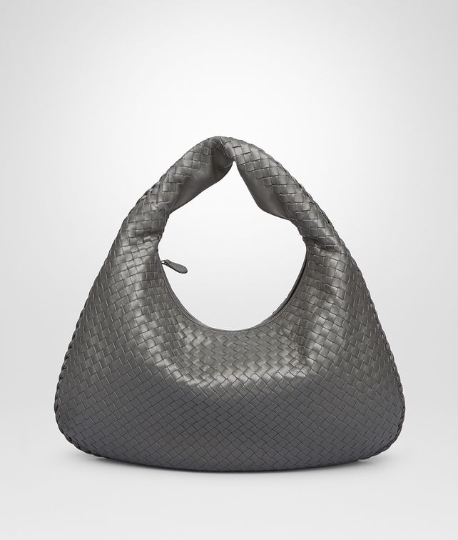 BOTTEGA VENETA MEDIUM VENETA BAG IN NEW LIGHT GREY INTRECCIATO NAPPA Hobo Bag Woman fp