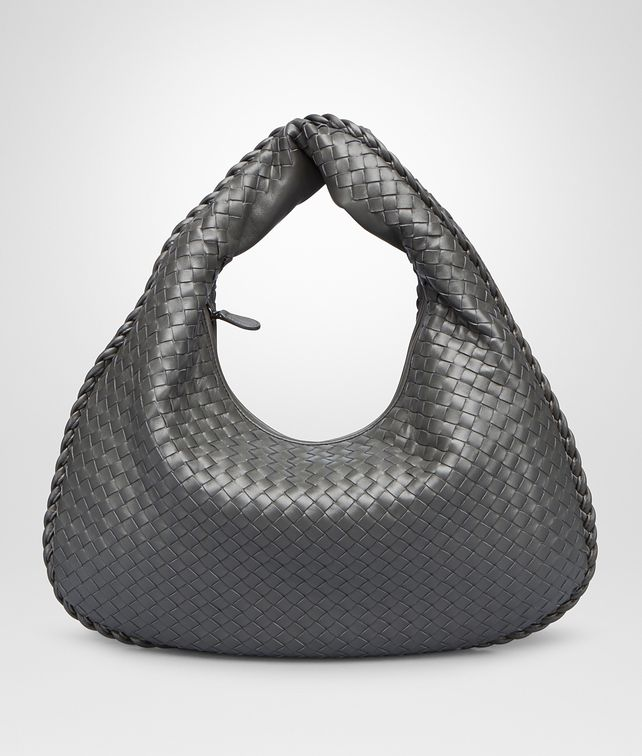 BOTTEGA VENETA LARGE VENETA BAG IN NEW LIGHT GREY INTRECCIATO NAPPA Hobo Bag Woman fp