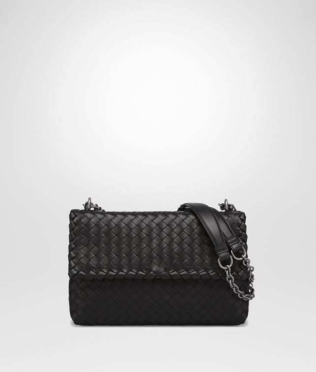 BOTTEGA VENETA NERO INTRECCIATO NAPPA SMALL OLIMPIA BAG Shoulder Bag [*** pickupInStoreShipping_info ***] fp
