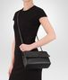 BOTTEGA VENETA SMALL OLIMPIA BAG IN NERO INTRECCIATO NAPPA Shoulder or hobo bag D ap
