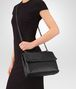 BOTTEGA VENETA MEDIUM OLIMPIA BAG IN NERO INTRECCIATO NAPPA Shoulder Bag Woman ap