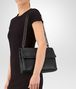 BOTTEGA VENETA MEDIUM OLIMPIA BAG IN NERO INTRECCIATO NAPPA Shoulder or hobo bag D lp