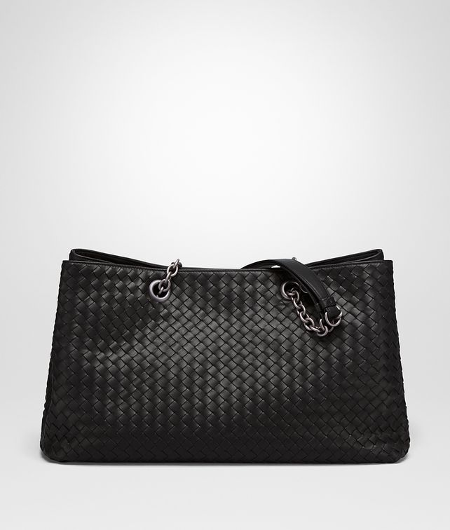 BOTTEGA VENETA LARGE TOTE BAG IN NERO INTRECCIATO NAPPA Top Handle Bag D fp