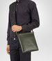 BOTTEGA VENETA SMALL MESSENGER BAG IN DARK SERGEANT INTRECCIATO VN Messenger Bag U ap