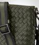 BOTTEGA VENETA SMALL MESSENGER BAG IN DARK SERGEANT INTRECCIATO VN Messenger Bag U ep