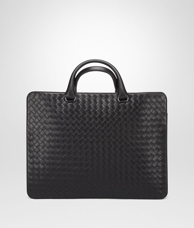 BOTTEGA VENETA BRIEFCASE IN NERO INTRECCIATO CALF Business bag Man fp