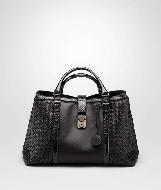 BOTTEGA VENETA ROMA BAG IN NERO NAPPA, AYERS DETAILS Top Handle Bag Woman fp