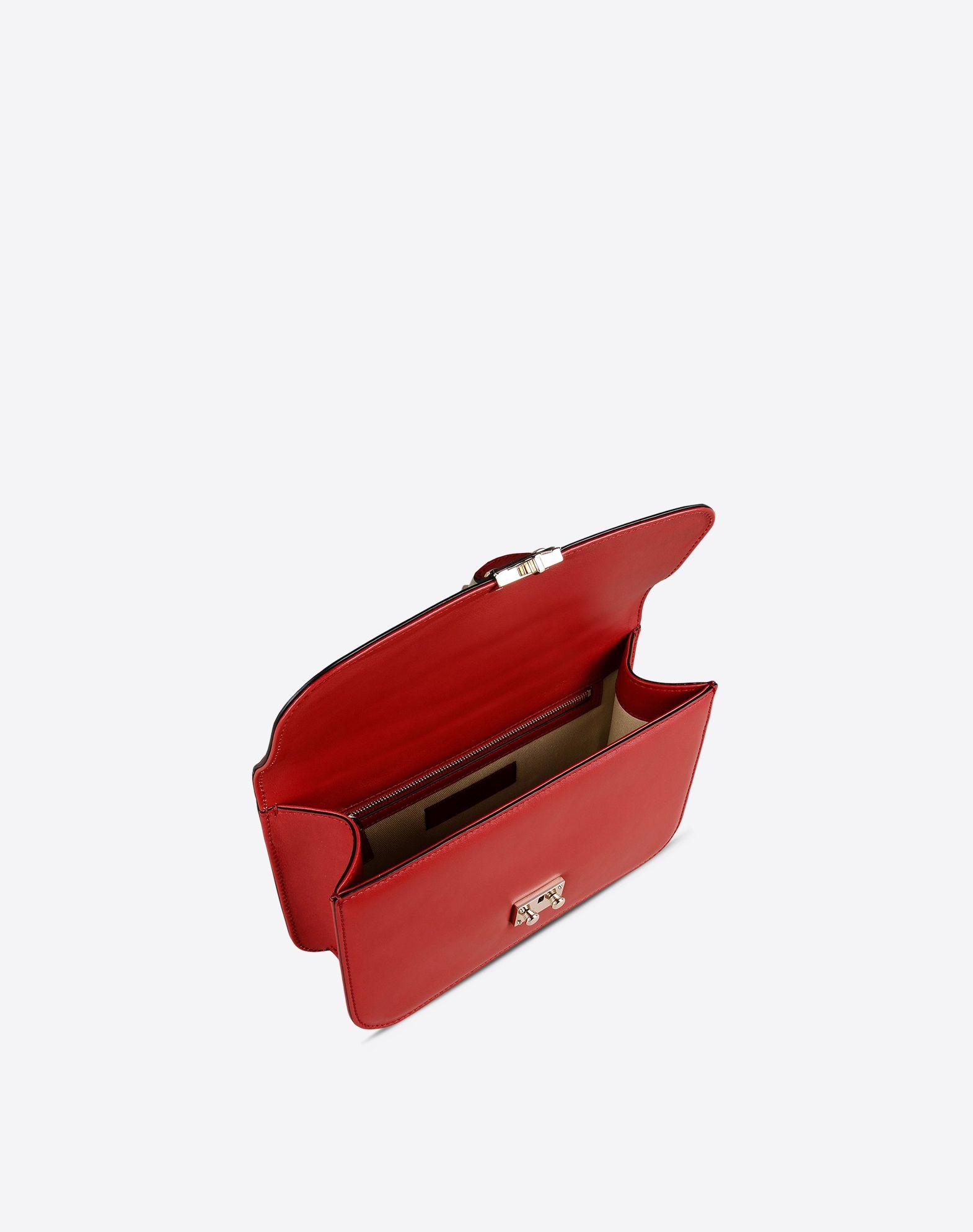 VALENTINO Metal Applications Framed closure Internal zip pocket  45267283xv