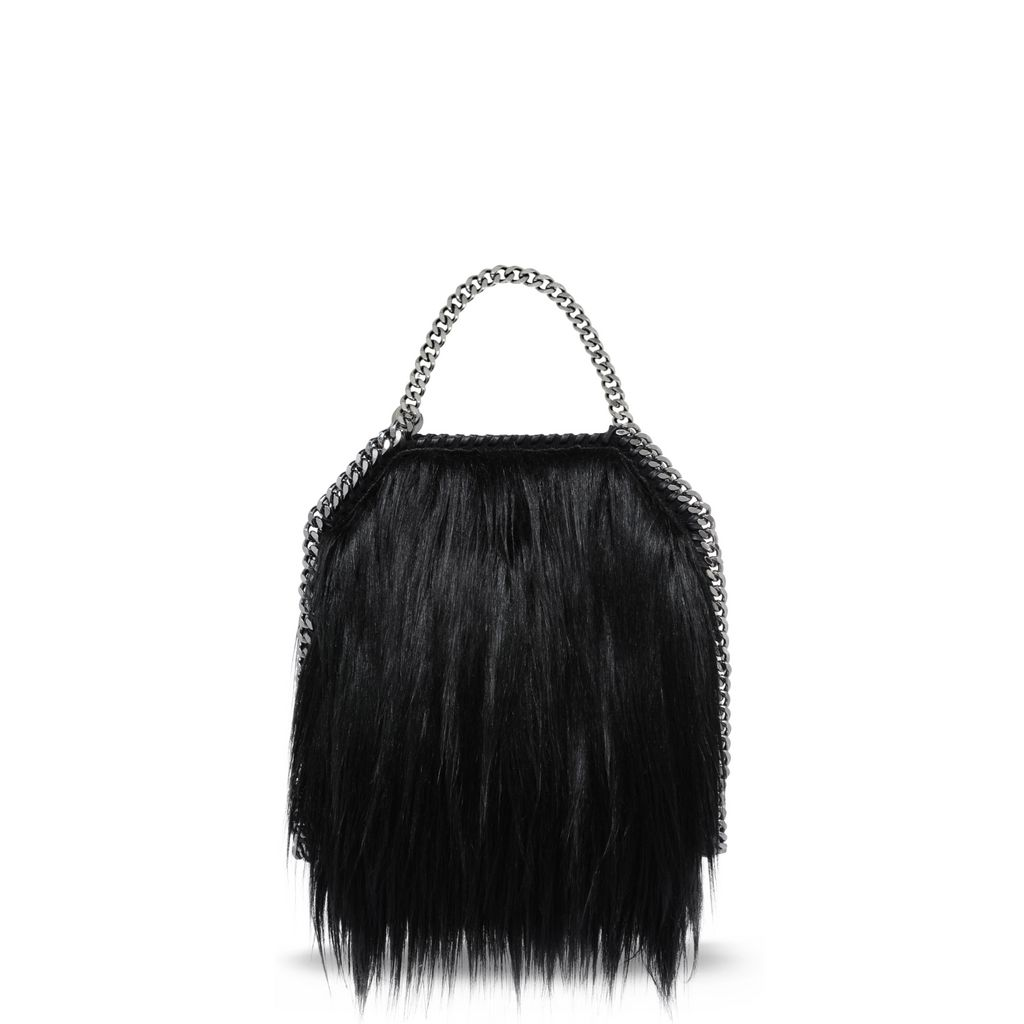 Black Falabella Alter Fur Mini Tote - STELLA MCCARTNEY